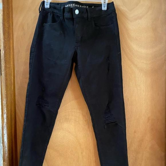 Black skinny jeans. American Eagle